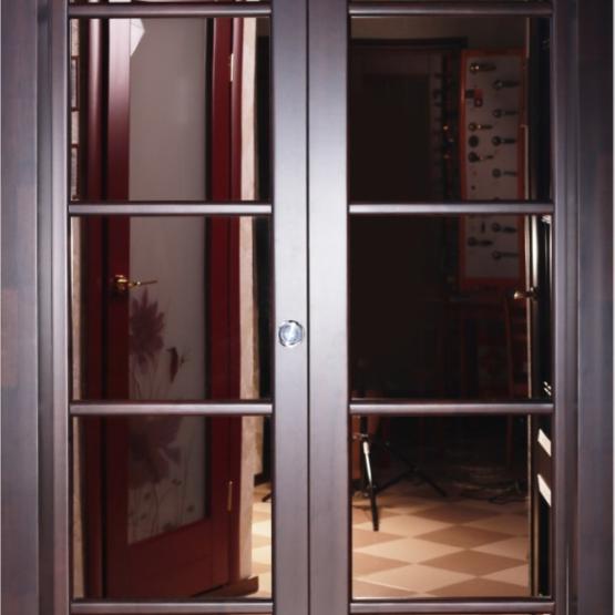 Межкомнатные двери Maestro Фрамуги и перегородки Перегородка с зеркалом №1