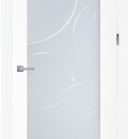 Межкомнатные двери Maestro Коллекция «Модерн» Премьера 400 триплекс с гравировкой
