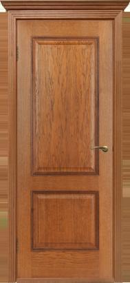 Межкомнатные двери Двери Белоруссии Шпон Гранд ПГ Орех-коньяк