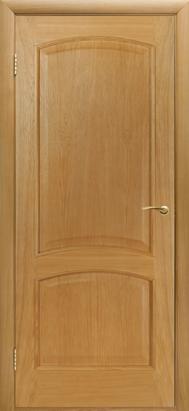 Межкомнатные двери Двери Белоруссии Шпон Капри ПГ светлый дуб