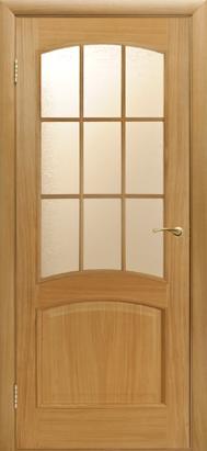 Межкомнатные двери Двери Белоруссии Шпон Капри ПО светлый дуб