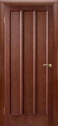 Межкомнатные двери Двери Белоруссии Шпон Троя ПГ темный орех