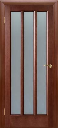 Межкомнатные двери Двери Белоруссии Шпон Троя ПОО темный орех