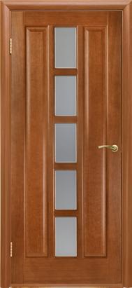 Межкомнатные двери Двери Белоруссии Шпон Квадро По каштан