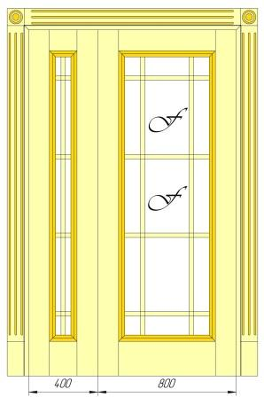 Межкомнатные двери Maestro Фрамуги и перегородки Распашная дверь классическая