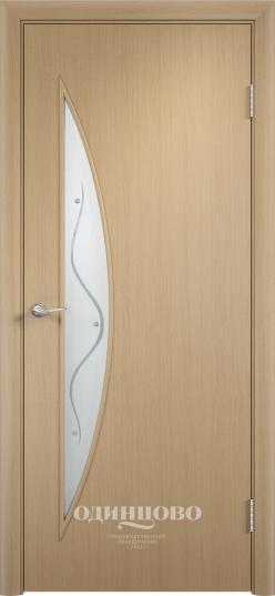 Межкомнатные двери Одинцово Двери ламинированные С-6 стекло с фьюзингом