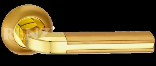 Фурнитура Ручки дверные Renz 265-odincovalam Адриано - блестящее/матовое золото SG/GP