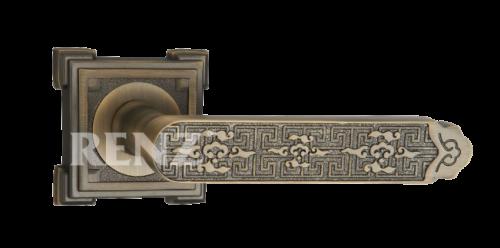 Фурнитура Ручки дверные Renz 265-odincovalam Афина - матовая античная бронза MAB