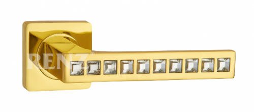 Фурнитура Ручки дверные Renz 265-odincovalam Алессандрия - блестящее золото SG