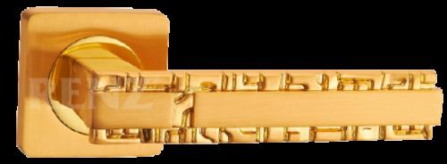Фурнитура Ручки дверные Renz 265-odincovalam Анджело - блестящее золото SG