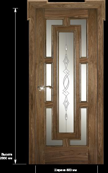 Межкомнатные двери Dariano Porte Премиум коллекция Барон ДО гравировка