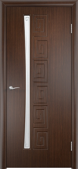 Межкомнатные двери Одинцово Двери облицованные ПВХ Омега ДО стекло: Сатинато с рисунком