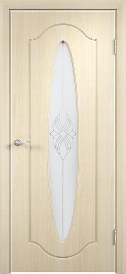 Межкомнатные двери Одинцово Двери облицованные ПВХ Орбита ДО стекло: Сатинато с рисунком