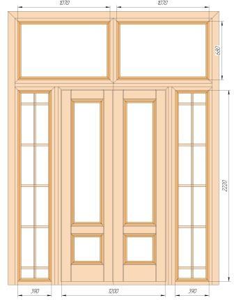 Межкомнатные двери Maestro Фрамуги и перегородки Перегородка + распашная дверь