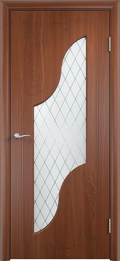Межкомнатные двери Одинцово Двери облицованные ПВХ Валенсия ДО стекло: Ромб