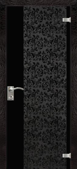 """Межкомнатные двери Dariano Porte Стеклянные двери """"Юнона"""" краколет бордо"""