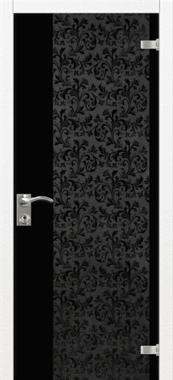 """Межкомнатные двери Dariano Porte Стеклянные двери """"Юнона"""" краколет перламутр"""