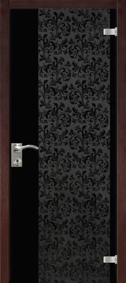 """Межкомнатные двери Dariano Porte Стеклянные двери """"Юнона"""" венге"""